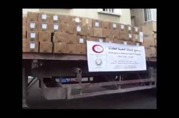 إتحاد الأطباء العرب - دخول قافلة المساعدات الثانية إلى داخل قطاع غزة - يوليو 2014